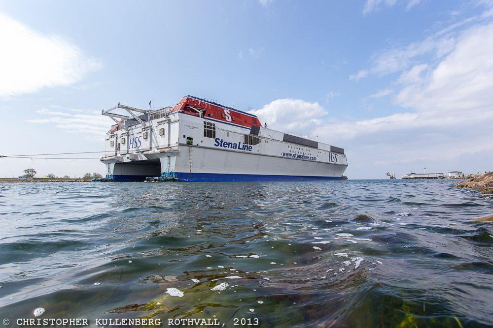 Stena Voyager ankommer till Landskrona den 11 maj 2013.